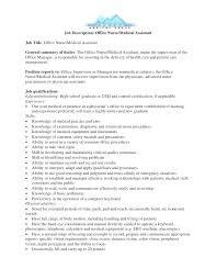 Medical Assistant Duties For Resume Job Description