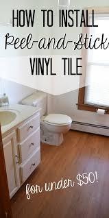 how to redo bathroom floor. DIY Peel And Stick Vinyl Plank Floors - How To Your For Less Than Redo Bathroom Floor S