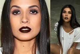 kourtney kardashian inspired makeup look 2016 bold lips adrilunamakeup you