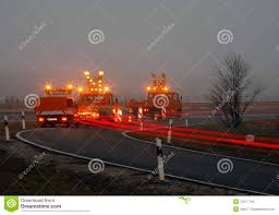 Road Construction Lights Road Construction At Twilight Stock Image Image Of Lights
