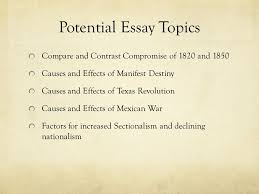 the union in peril causes of the civil war chapter section  17 potential essay