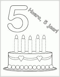 Kleurplaten 39 Jaar Fris Verjaardag 4 Jaar Kleurplaten Verjaardag