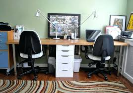 desk ideas for home office. 2 Person Desk Ikea Good Idea Of Sharing Office Homesfeed Regarding For Home Prepare Ideas