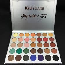 beauty glazed impressed you eyeshadow palette matte eye shadow pact eye makeup for green eyes eye makeup styles from coloris 7 42 dhgate