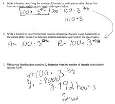 graphing exponential functions matching tables equations and