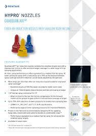 Hypro Spray Nozzle Chart Hypro Nozzles Guardian Air Manualzz Com