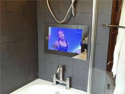Best Product Bathroom Mirror Tv Magnificent Ideas Incredible Designing  Hanging Waterproof Tube Shower Awesome Item