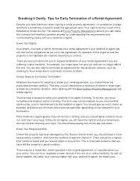Sample Letter To Landlord To Terminate Lease Early Landlord Termination Of Lease Letter Terminate A Lease Letter