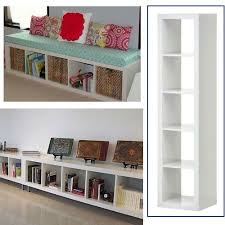 Ikea Expedit Bookcase White Multi-Use- Easily turn this bookcase on its  side to create a window seat! I love window seats!