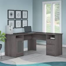 two person desk home office. Hillsdale L-Shaped Executive Desk Two Person Home Office I