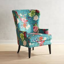 Teal Chair Asher Flynn Floral Print Chair Pier 1 Imports