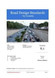 Kenya Road Design Manual Part Ii Pdf Road Design Standards 6 1