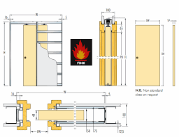 door jamb diagram. Diagram Showing Dimensions Of The Eclisse Fire Rated Sliding Pocket Door Gear System For Single FD30 Jamb