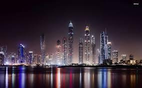 Night Lights In Dubai Wallpaper World Wallpapers 51312