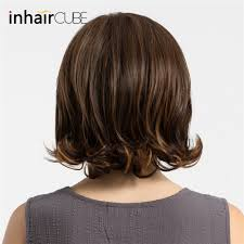 Esin Shoulder Length Wigs Highlight Dark Brown Centre Parting Curly