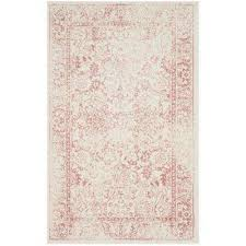 adirondack ivory rose 3 ft x 5 ft area rug