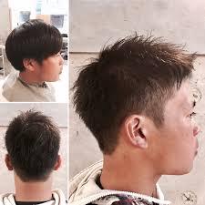 メンズショート刈り上げ2ブロック外国人短め前髪かわいい前髪