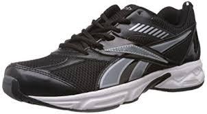 reebok black shoes. reebok men\u0027s active sports black and silver mesh running shoes (v49025) - 10 uk