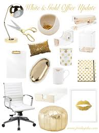 white office decors. White \u0026 Gold Office Update | Finding Chic Decors
