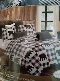 rustic mountain lodge quilt bedding set
