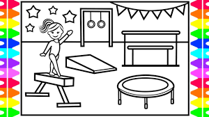 Check out our gymnastics coloring selection for the very best in unique or custom, handmade pieces from our shops. How To Draw Gymnastics For Kids Gymnastics Drawing For Kids Gymnastics Coloring Pages Kids Youtube