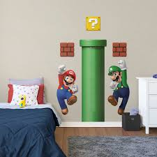 super mario growth chart giant officially licensed nintendo wall decals wall decal fathead for mario decor