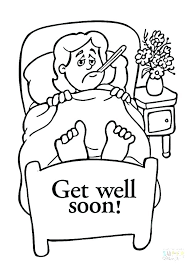 Get Well Coloring Cards Page Click The Pages To View Printable