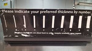Deli Slice Thickness Chart Related Keywords Suggestions