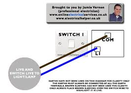 electrical helper wiring a 1 way light switch brown sleeving or tape would of been placed on the wires as shown to show the blue is live