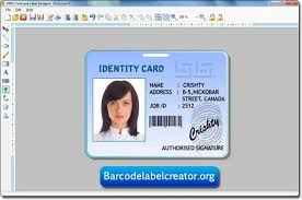 Photo Id Template Free Download Id Card Label Creator Www Linux Apps Com