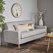 gray tweed sofa.  Tweed Stratford Mid Century Modern Light Grey Tweed Fabric 3 Seater Sofa Throughout Gray 0