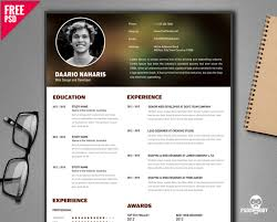 Resume Templates Free Download Creative Free Creative Resume Template Psd Psddaddy Com