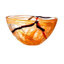 kosta boda contrast bowl orange  bloomingdales  objects i love