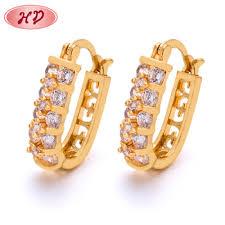 whole dubai 22k gold jewelry fashion luxury double side beautiful earrings for s