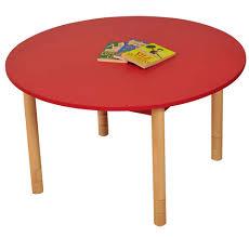 coloured beechwood round table