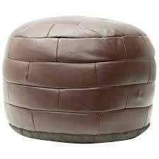 leather pouf ottoman circa for square id f leather pouf ottoman uk