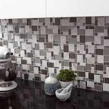 allen roth essentials modern cubes mosaic glass metal stone marble wall tile common x actual