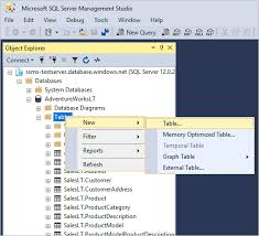 database tools create and update tables ssms sql server microsoft docs