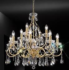 franklite chiffon gold finish 12 light crystal chandelier
