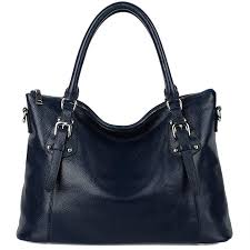 updated version yaluxe women s vintage genuine soft leather classic shoulder work tote bag handbags b018tosv7m