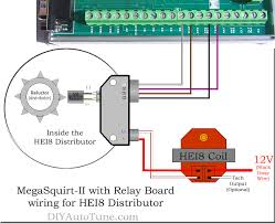 gm tach wiring wirdig megasquirt ii relay board and hei8 distributor wiring diagram