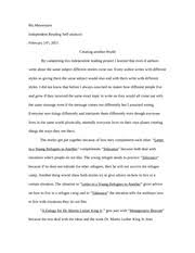 i acknowledge mine essay ms meuwissen independent reading 2 pages independent reading self analysis essay