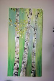 here s the finished birch painting with more light filtering through the trees mmmm this light green puts you in the mind for springtime doesn t it