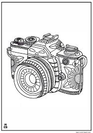 Adults Patterns Coloring Pages Camera Coloring Pages Pattern