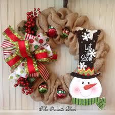 Burlap Christmas wreath, snowman wreath, Christmas wreath, winter wreath,  ornament wreath,