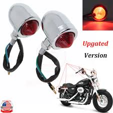 Details About Motorcycle Large Turn Signals Front Tail Indicator Bullet Light Universal Chrome