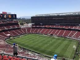 Levis Stadium Section 407 Row 6 Seat 7 Real Madrid Vs