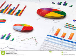 Free Charts And Graphs Graphs And Pie Line And Bar Charts Report Stock Photo