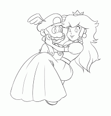 Small Picture Mario And Princess Peach Coloring Pages Coloring Home