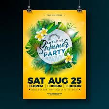 Green Party Flyer Summer Beach Party Flyer Design Download Free Vectors